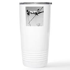 Male pole-vaulter clear Travel Mug