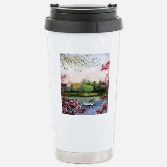 Mamaroneck in April Bat Stainless Steel Travel Mug
