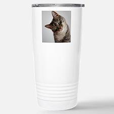 Confused Cat Travel Mug