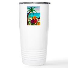 Tropical Floral Beach Travel Mug
