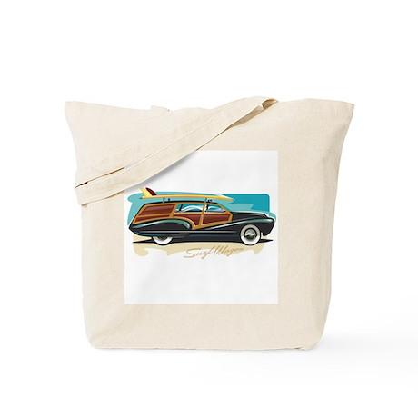 Surf Wagon Woody Tote Bag