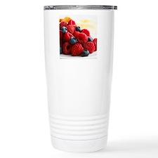 Blueberries and raspber Travel Mug