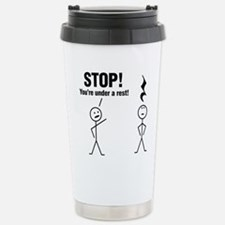 Stop! Stainless Steel Travel Mug