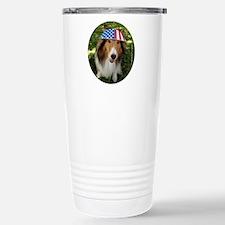 Patriot Sheltie Pocket  Travel Mug