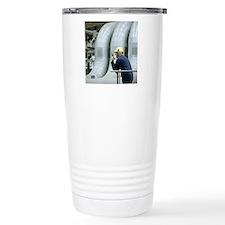 Worker in a power stati Travel Mug