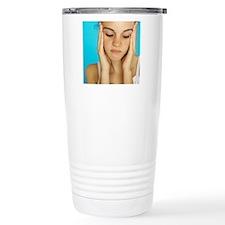 Unhappy girl Travel Mug