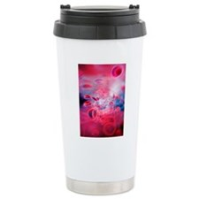 Red blood cells, comput Travel Mug