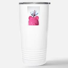 Piggy bank and euros Travel Mug