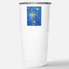 Nerve cells, artwork Travel Mug
