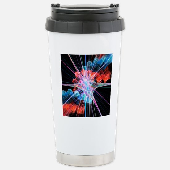 Nerve cell and DNA, art Stainless Steel Travel Mug