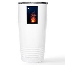 Volcano at night Travel Coffee Mug
