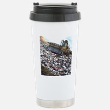 View of a bulldozer wor Stainless Steel Travel Mug