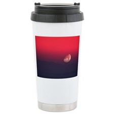 Setting Moon in a red s Travel Mug