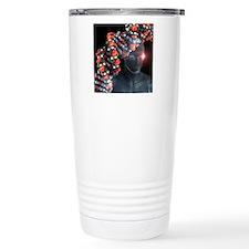 Human genome, conceptua Travel Coffee Mug