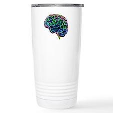 Human brain, computer a Travel Coffee Mug