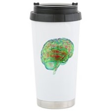 Human brain,computer ar Travel Mug