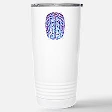 Human brain, artwork Travel Mug