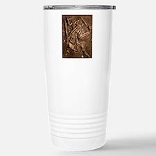 Neanderthal skeleton, K Travel Mug