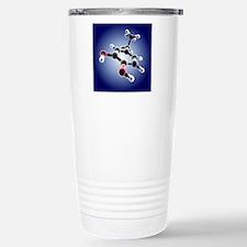 Dopamine, 3D molecular  Stainless Steel Travel Mug