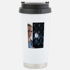 Doctor studying an MRI  Stainless Steel Travel Mug