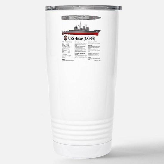 USS Anzio CG-68 Stainless Steel Travel Mug
