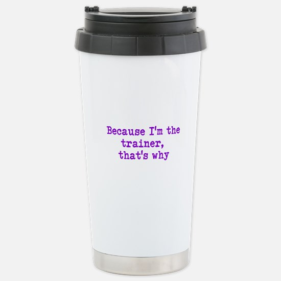 trainerpurple Stainless Steel Travel Mug
