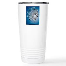 Carbon nanotube, artwor Travel Mug