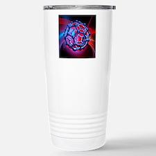 Buckyball molecule, art Travel Mug