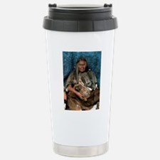 Model of a neanderthal  Stainless Steel Travel Mug