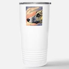 Brindle whippet greyhou Travel Mug