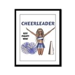 Cheerleader #1 Framed Panel Print