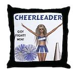 Cheerleader #1 Throw Pillow