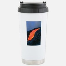 Lava flow from Kilauea  Stainless Steel Travel Mug
