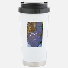 heart in stone Travel Mug