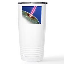 Laser eye surgery, comp Travel Mug