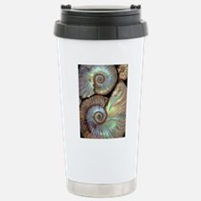 Fossilised ammonites Stainless Steel Travel Mug