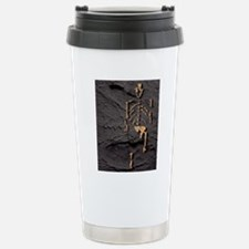 Footprints and skeleton Travel Mug