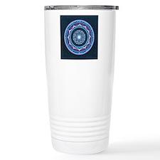 Blue and  Purple Lotus  Travel Coffee Mug