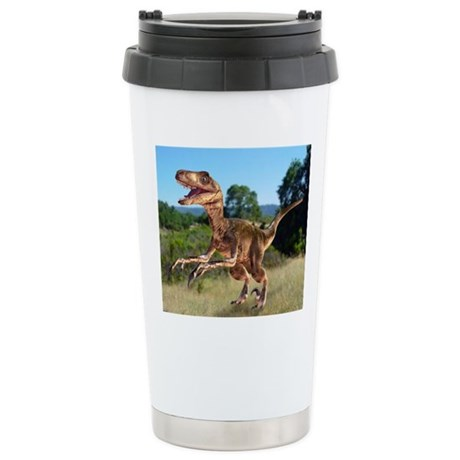 Deinonychus dinosaur Stainless Steel Travel Mug