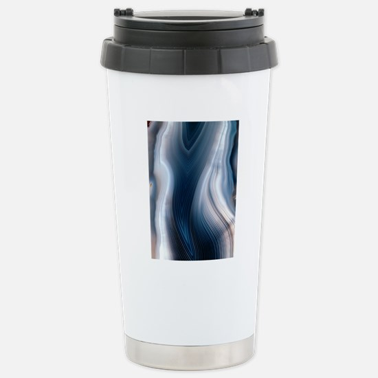 Concentric banding in a Stainless Steel Travel Mug