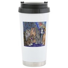 Meowy Christmas Travel Coffee Mug