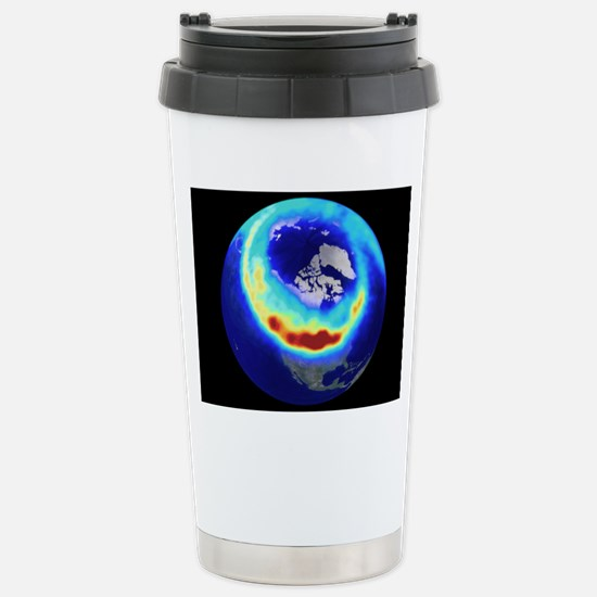 Aurora from space Stainless Steel Travel Mug