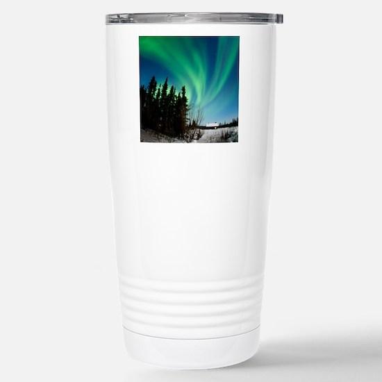 Aurora borealis in Alas Stainless Steel Travel Mug