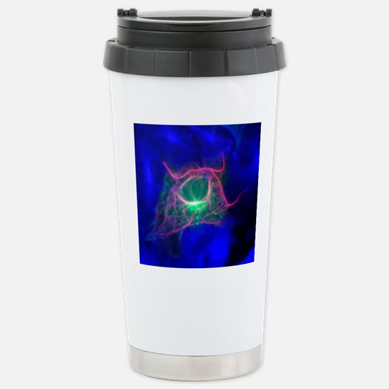 Cell structure, fluores Stainless Steel Travel Mug