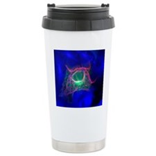 Cell structure, fluores Travel Mug