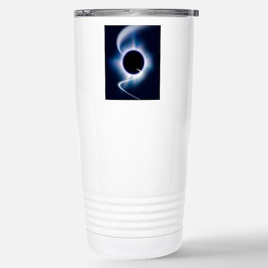 Black hole and infallin Stainless Steel Travel Mug