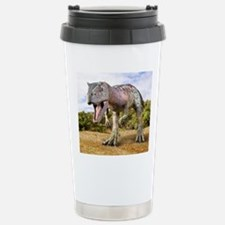 Allosaurus dinosaur, ar Stainless Steel Travel Mug