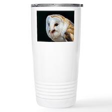 Barn owl calling Travel Mug
