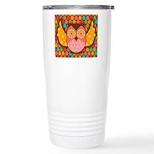 Owl Boheme Pink Travel Mug
