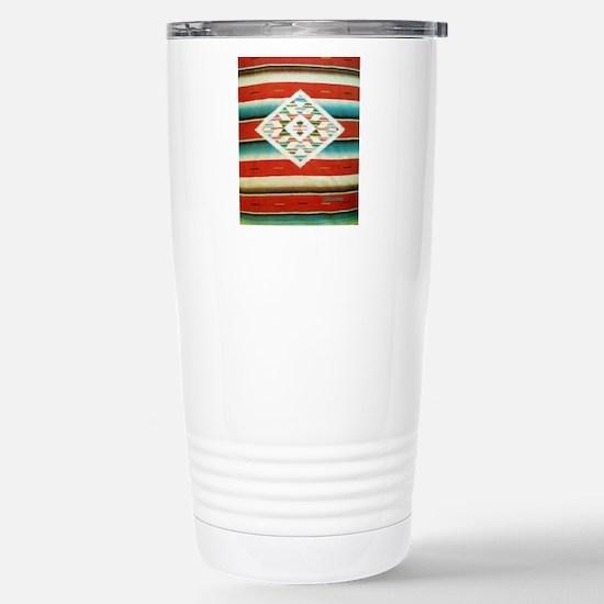 Mexican Serape Flip Flo Stainless Steel Travel Mug